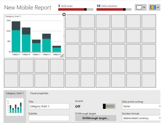 Data Types in SSRS Mobile Reports Category Charts | Aunt Kathi's SQL